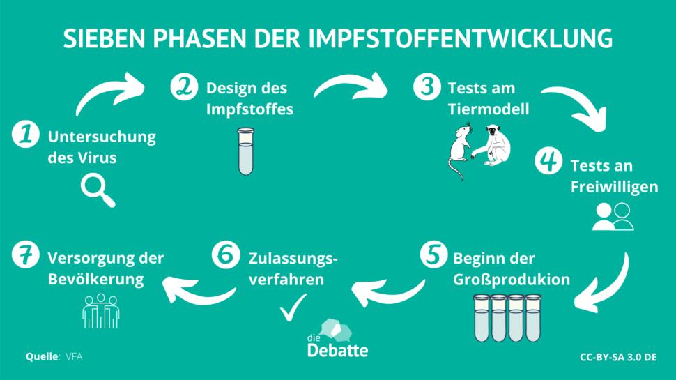 Infografik Phasen Impfstoffentwicklung